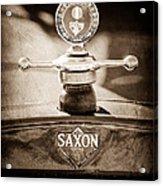 1915 Saxon Roadster Hood Ornament Acrylic Print