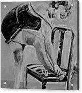 1920s Girl Black And White Acrylic Print