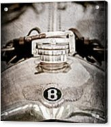 1925 Bentley 3-liter 100mph Supersports Brooklands Two-seater Radiator Cap Acrylic Print