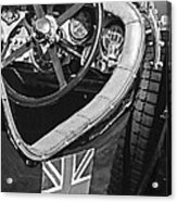 1931 Bentley 4.5 Liter Supercharged Le Mans Steering Wheel -1255bw Acrylic Print