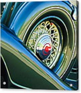 1933 Pontiac Spare Tire -0431c Acrylic Print
