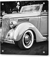1936 Ford Cabriolet Bw  Acrylic Print