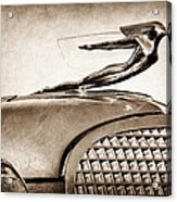 1937 Cadillac V8 Hood Ornament Acrylic Print