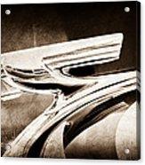 1937 Chevrolet 2 Door Sedan Hood Ornament Acrylic Print