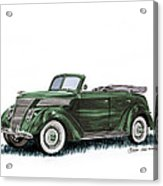 1937 Ford 4 Door Convertible Acrylic Print