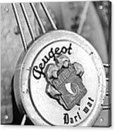 1937 Peugeot 402 Darl'mat Legere Special Sport Roadster Recreation Steering Wheel Emblem Acrylic Print by Jill Reger