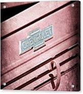 1938 Chevrolet Pickup Truck Emblem Acrylic Print
