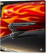 1939 Graham Coupe Hood Ornament Acrylic Print by Ron Pate