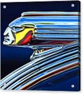 1939 Pontiac Silver Streak Chief Hood Ornament Acrylic Print by Jill Reger