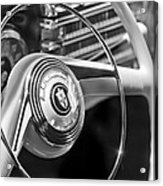 1942 Lincoln Continental Cabriolet Steering Wheel Emblem Acrylic Print
