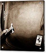 1950 Ferrari Hood Emblem Acrylic Print