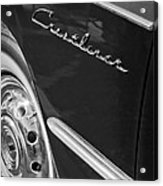 1951 Ford Crestliner Emblem - Wheel Acrylic Print by Jill Reger