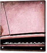 1953 Studebaker Coupe Grille Emblem Acrylic Print
