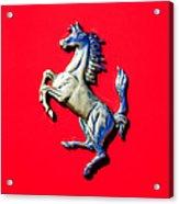 1954 Ferrari 500 Mondial Spider Series I Emblem Acrylic Print