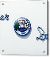 1954 Kaiser-darrin Roadster Emblem Acrylic Print