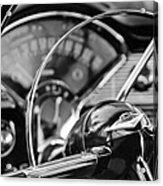 1956 Chevrolet Belair Steering Wheel Acrylic Print