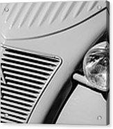1956 Citroen 2cv Grille -0081bw Acrylic Print
