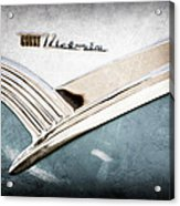 1956 Ford Crown Victoria Glass Top Emblem Acrylic Print