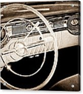 1956 Oldsmobile Starfire 98 Steering Wheel And Dashboard Acrylic Print