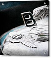 1957 Bentley S-type Hood Ornament - Emblem Acrylic Print
