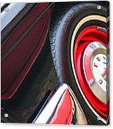 1957 Ford Fairlane Convertible Wheel Emblem Acrylic Print