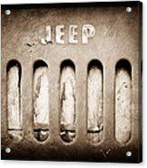1957 Jeep Emblem Acrylic Print