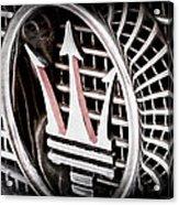 1957 Maserati Grille Emblem Acrylic Print