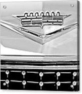 1958 Cadillac Eldorado Biarritz Convertible Emblem Acrylic Print by Jill Reger