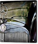 1960 Mercedes-benz 220 Se Convertible Hood Ornament Acrylic Print
