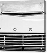 1963 Ford Falcon Futura Convertible  Hood Emblem Acrylic Print by Jill Reger