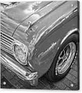 1963 Ford Falcon Sprint Convertible Bw  Acrylic Print