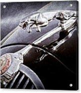 1964 Jaguar Mk2 Saloon Hood Ornament And Emblem Acrylic Print