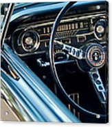 1965 Shelby Prototype Ford Mustang Steering Wheel Emblem Acrylic Print