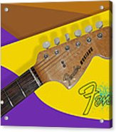 1966 Fender Mustang Acrylic Print