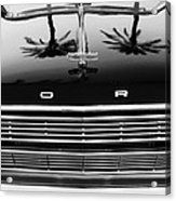 1966 Ford Galaxie 500 Convertible Grille Emblem - Hood Ornament Acrylic Print