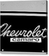 1967 Chevrolet Camaro Emblem Acrylic Print