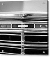 1967 Chevrolet Chevelle Malibu Grille Emblem Acrylic Print