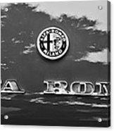 1969 Alfa Romeo Spider Veloce Iniezione Emblem Acrylic Print