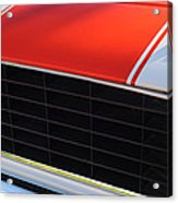 96 Inch Panoramic -1969 Chevrolet Camaro Rs-ss Indy Pace Car Replica Grille - Hood Emblems Acrylic Print