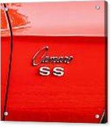 1969 Chevy Camaro Ss 396 Painted Acrylic Print