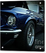 1969 Ford Mustang Mach 1 Fastback Acrylic Print by Paul Ward