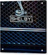 1969 Shelby Gt500 Convertible 428 Cobra Jet Grille Emblem Acrylic Print