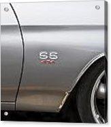 1970 Chevy Chevelle 454 Ss Bw  Acrylic Print