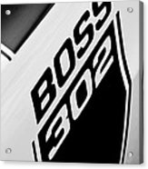 1970 Ford Mustang Boss 302 Emblem Acrylic Print