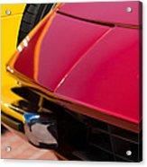 1971 Ferrari 365 Gtb-4 Daytona Spyder Hood Emblem Acrylic Print