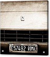 1972 Ferrari 365 Gtb -4a Grille Emblem Acrylic Print