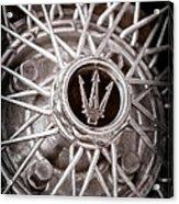 1972 Maserati Ghibli 4.9 Ss Spyder Wheel Emblem Acrylic Print