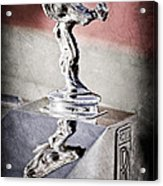 1976 Rolls Royce Silver Shadow Hood Ornament Acrylic Print