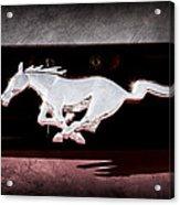 1994 Ford Mustang Corbra Custom Convertible Emblem Acrylic Print