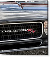 2011 Dodge Challenger Rt Black Acrylic Print